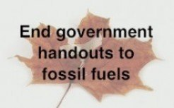 End Government Handouts to Fossil Fuels