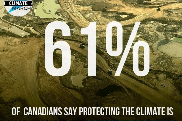 61% of Canadians say protecting the climate more important than pipelines and tarsands