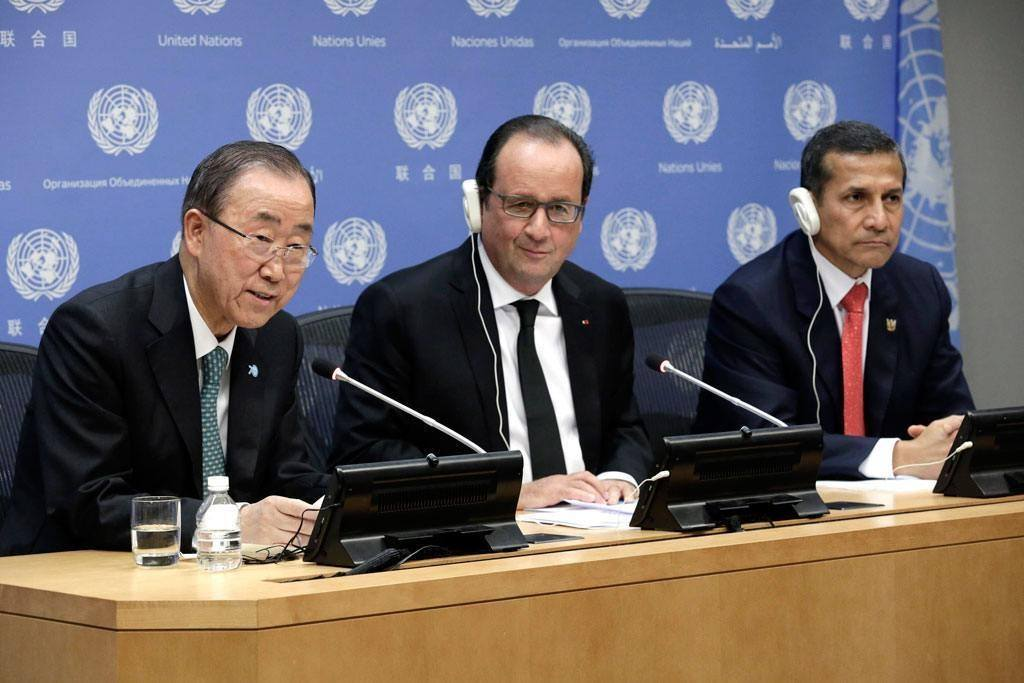 Press briefing on Climate Change by Secretary-General and H.E. Franois Hollande of France and H.E. Ollanta Humala Tasso of Peru
