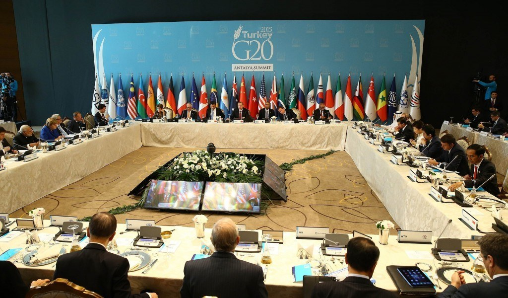 G20 Turkey Leaders Summit - working lunch on 'Development and Climate Change'