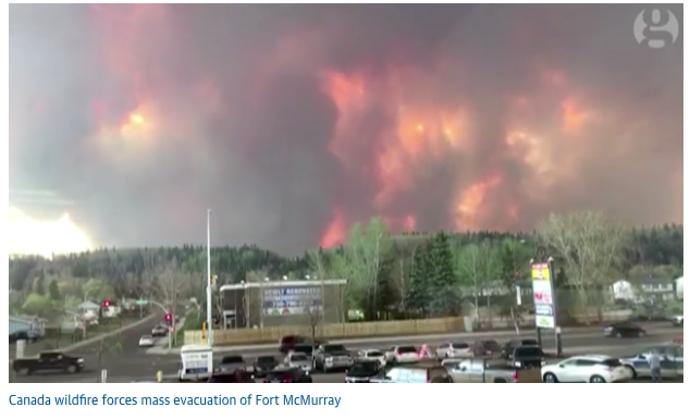 Fort McMurray: Canada wildfires force evacuation of oil sands city