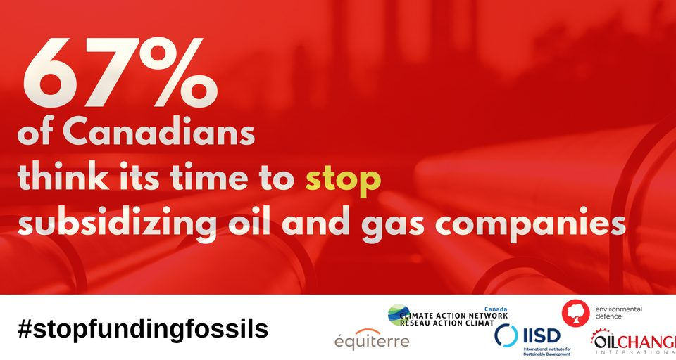New Poll: Canadians Want to End Public Subsidies for Oil and Gas ...