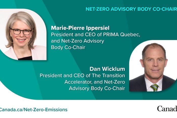 Le nouveau groupe consultatif pour la carboneutralité du Canada et le projet de loi C-12