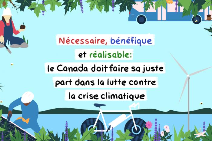 Nouvelle étude: Le Canada peut doubler son ambition climatique pour 2030 et maintenir une économie florissante