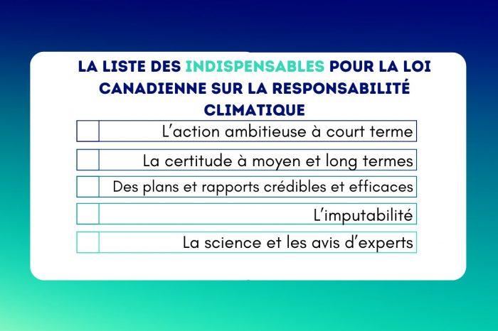 Une loi sur la responsabilité climatique pour un avenir sûr et plus prometteur