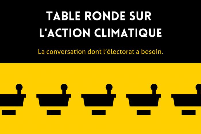 Le Réseau action climat organise une table ronde sur le climat avec tous les principaux partis